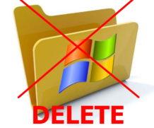 Как удалить папку со старой операционной системой Windows