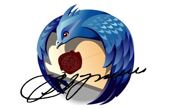 Как добавить подпись в Mozilla Thunderbird