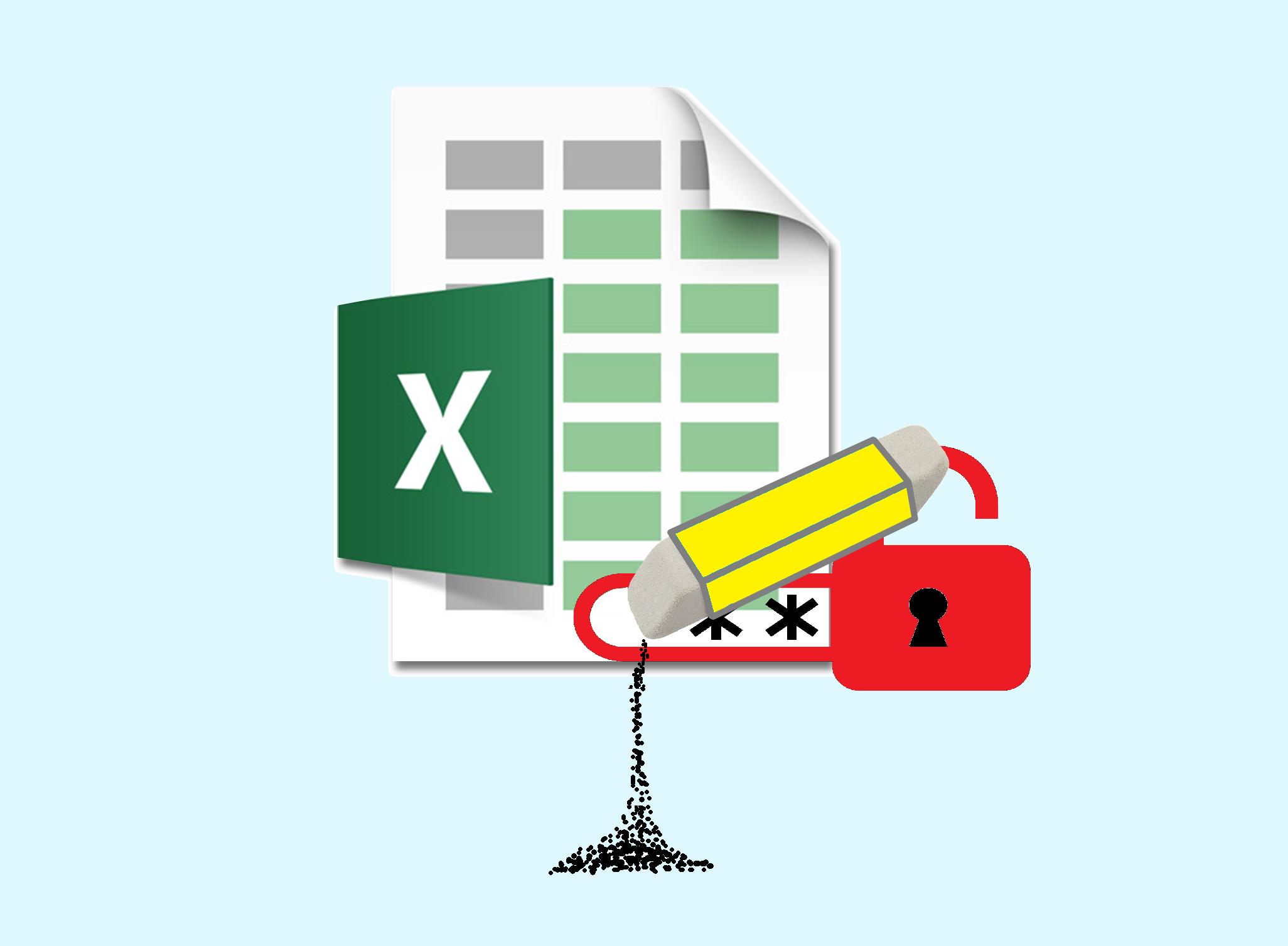 Как убрать пароль защищенного листа Excel
