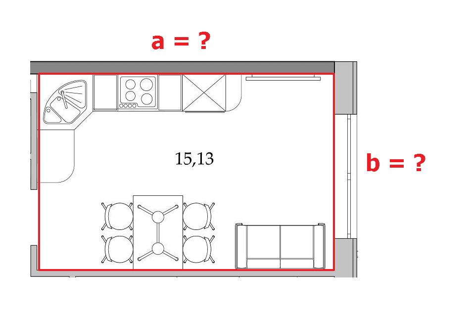 Как посчитать длину стен комнат, зная только площадь